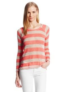 Splendid Women's Saharan Stripe Lightweight Pullover Sweater