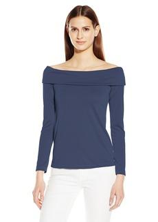 Splendid Women's Sandwash Jersey Off Shoulder Top