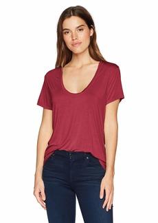 Splendid Women's Scoop Neck Short Sleeve T-Shirt  M
