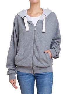 Splendid Women's Shirred Zip Hoodie