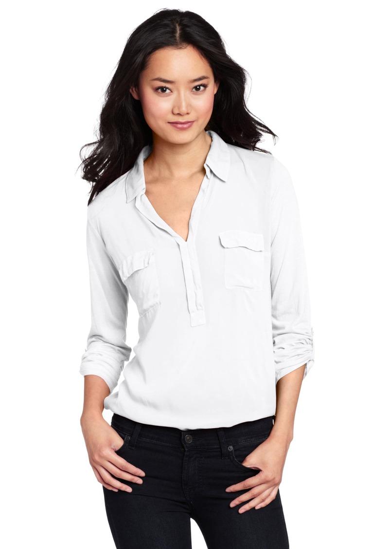 Splendid Women's Shirting L/S Collar Top  Blouse MD (Women's 6-8)