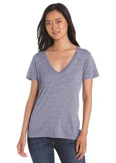 Splendid Women's Short Sleeve Heather V-Neck