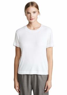 Splendid Women's Short Sleeve Scoop Neck Cashmere and Silk Blend Tee  XL