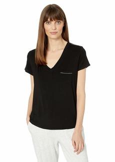 Splendid Women's Short Sleeve V-Neck T-Shirt Casual Lounge Pajama Top Pj  XL