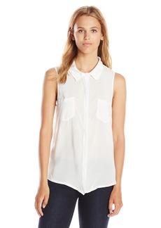 Splendid Women's Sleeveless Button Front Blouse Shirt  Medium