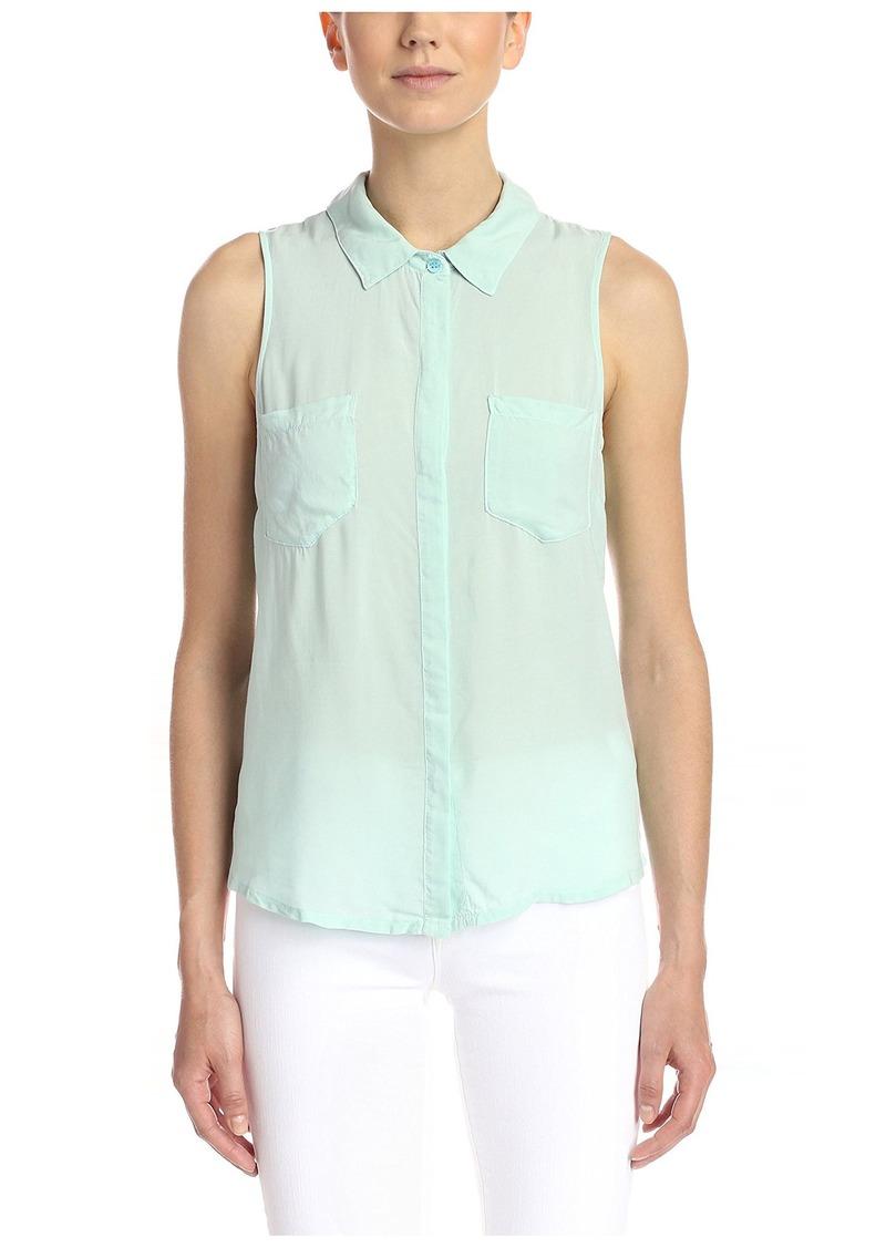 Splendid Women's Sleeveless Button-up Shirt  XL