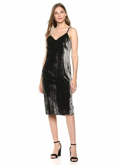 Splendid Women's Sleeveless Midi Velvet Dress  XL