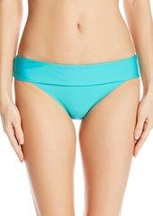 Splendid Women's Stitch Solid Banded Bikini Bottom  L