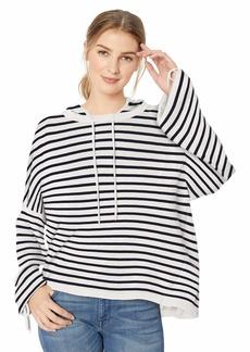 Splendid Women's Stripe Hoodie SWTR  M
