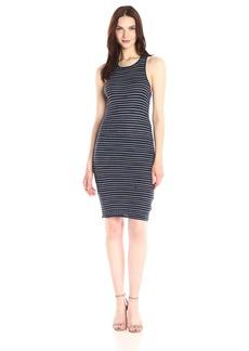 Splendid Women's Stripe Rib Knit Dress  XL