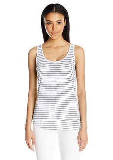 Splendid Women's Striped Cross Back Tank  arge
