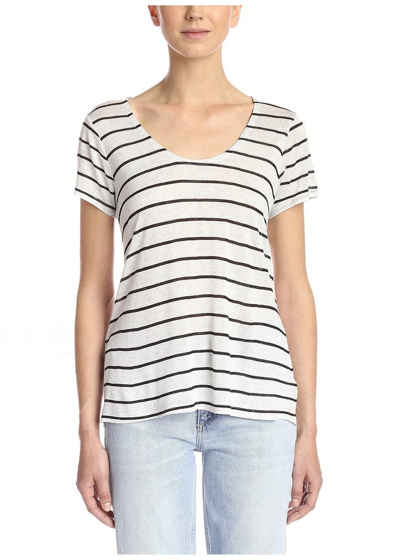 Splendid Women's Striped Speckled Melange Tee  S