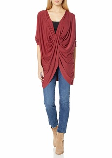 Splendid Women's Studio Active Jersey Drape Tunic Long Sleeve Top