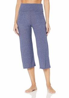 Splendid Women's Studio Activewear Workout Crop Pants with Two Outer Pockets  XS