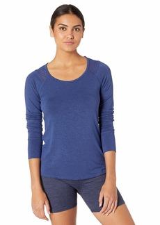Splendid Women's Studio Activewear Workout Layering Long Sleeve T Shirt Top  M