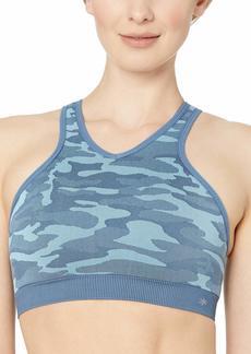 Splendid Women's Studio Workout Yoga Racerback Seamless Cami Bra Bra Wave camo XS