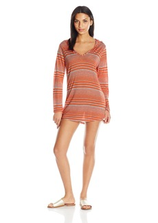 Splendid Women's Sun Sational Solids Hoodie Tunic Cover up  S