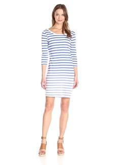 Splendid Women's Sunfaded Stripe Jersey Tee Dress