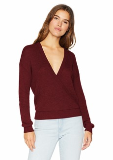 Splendid Women's Surplice Front Sweater  M
