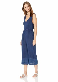 Splendid Women's Swimsuit Cover Up Jumper with Wide Leg sea to it Navy