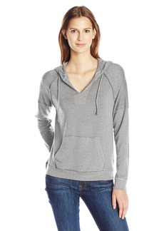 Splendid Women's Teton Cozy French Terry Notch Neck Hoodie  Large