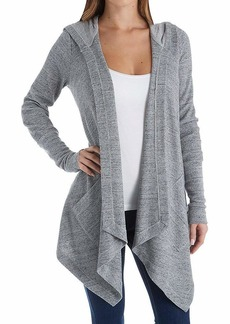 Splendid Women's Thermal Cardigan with Hood  M