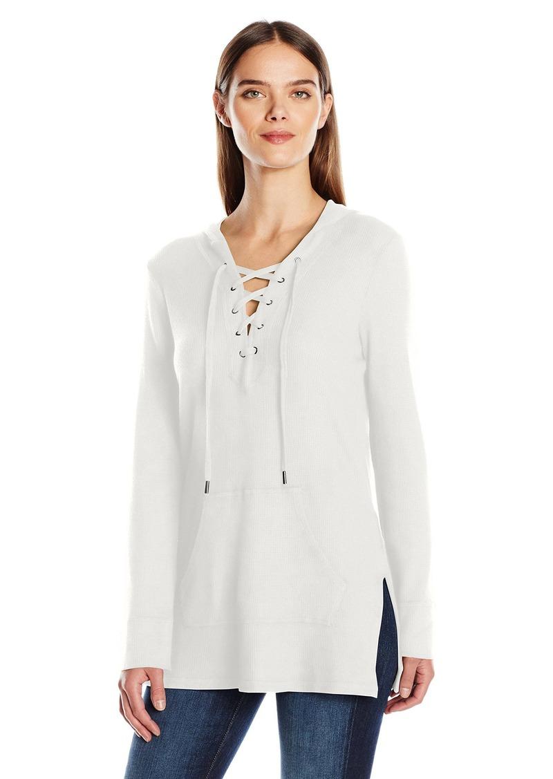 Splendid Women's Thermal Lace up Sweatshirt  S