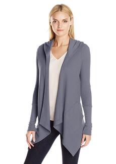 Splendid Women's Thermal Wrap Hooded Cardigan  X-Large