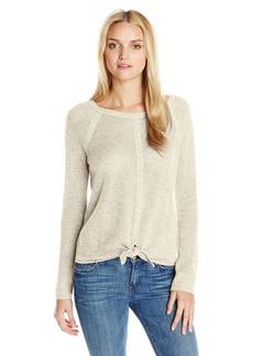 Splendid Women's Tie Front Cashmere Blend Sweater