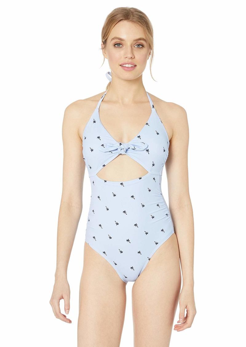 Splendid Women's Tie Front Key Hole One Piece Swimsuit