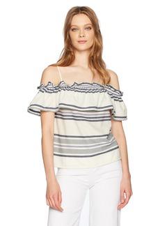 Splendid Women's Traveler Stripe Cold Shoulder  M