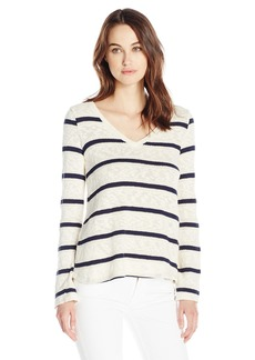 Splendid Women's Tucson Striped Loose Knit Easy Pullover