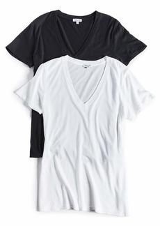 Splendid Women's V-Neck Tee T-Shirt  L