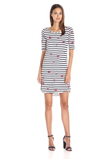 Splendid Women's Venice Stripe Star Print Dress White/Navy L