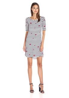 Splendid Women's Venice Stripe with Star Print Dress White/Navy M