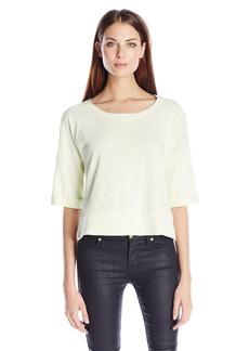 Splendid Women's Vista Active Crop Rolled Bell Sleeve Sweatshirt