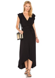 Splendid Wrap Dress in Black. - size M (also in S,XS)