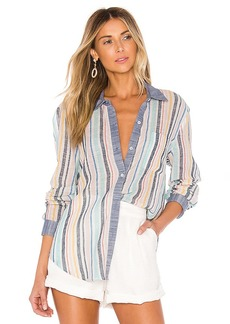 Splendid x Gray Malin Stripe Button Down Top