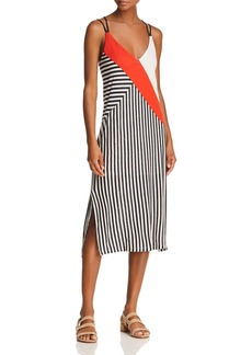 Splendid x Margherita Color-Block Striped Slip Dress