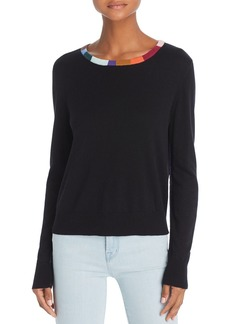 Splendid x Margherita Colore Color-Block Trim Sweater