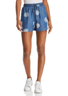 Splendid x Margherita Daisy Print Chambray Shorts