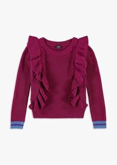 Splendid x Margherita Girl Ruffle Pullover Sweater
