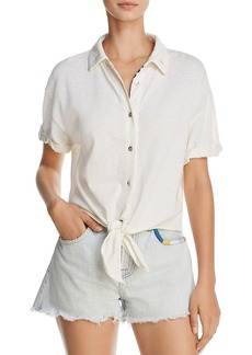 Splendid x Margherita Tie-Front Shirt