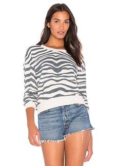 Splendid Zebra Sweatshirt in Gray. - size L (also in M,S,XS)