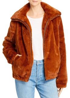 Splendid Zip Faux Fur Jacket