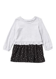Splendid Star Print Ruffle Dress (Toddler Girls & Little Girls)