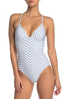 Splendid Stormy Story Lace-Up One-Piece Swimsuit