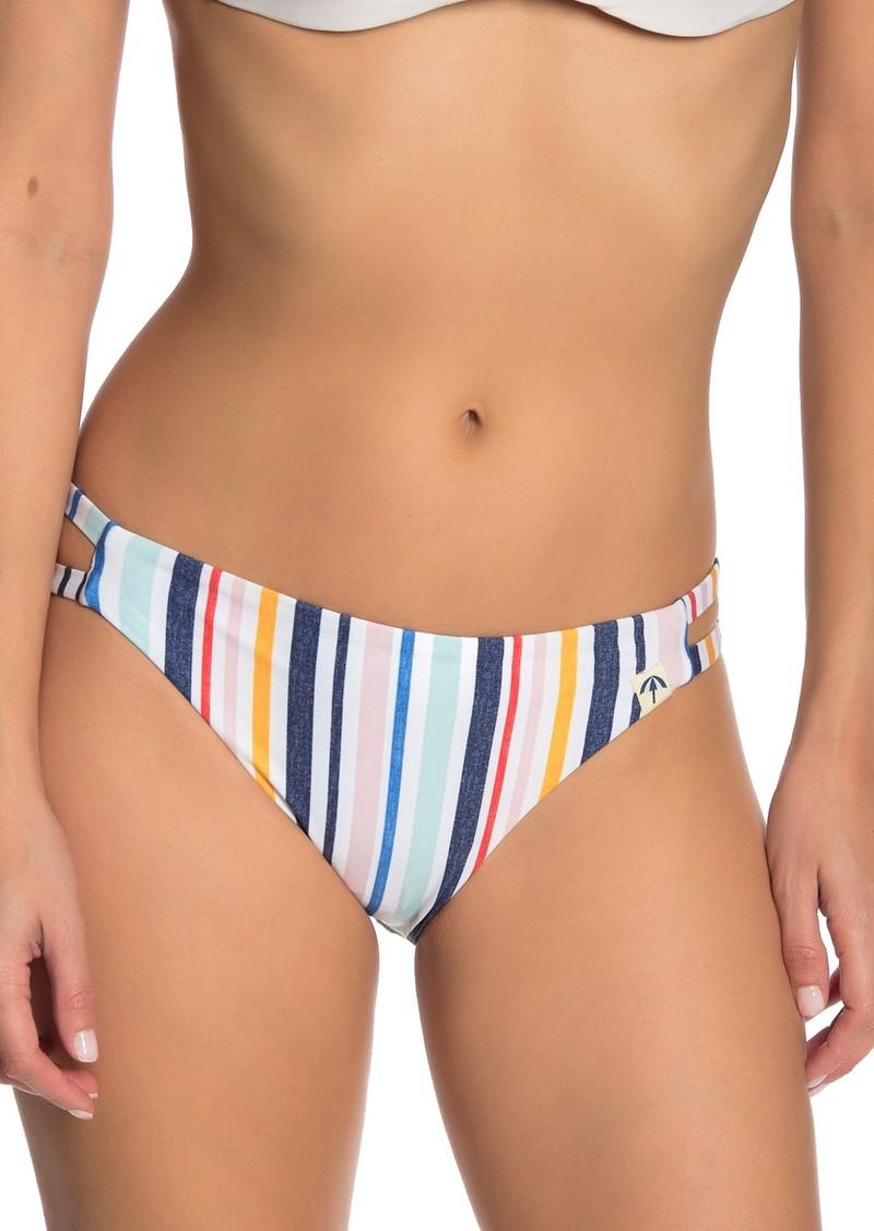 Splendid Stripe Double Strap Bikini Bottoms