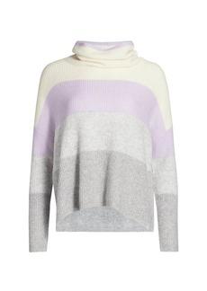 Splendid Stripe Funnel Neck Sweater