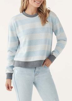 Splendid Stripe Print Crew Neck Pullover